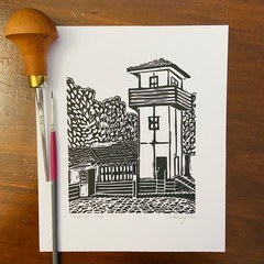 Lord Somers Camp -  Mini Slush Hut - Edition of 100 - Linoprint