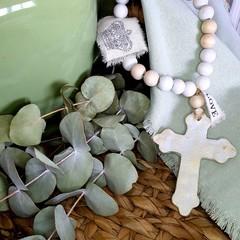 Shabby Chic Love Blessing Beads | Home Decor | Hand Made | Gift Idea | Cross