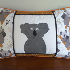 Koala cushion, koala pillow, decorative cushion, nursery pillow