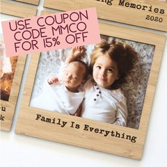 FREE POST | Family is Everything magnetic photo frame bamboo