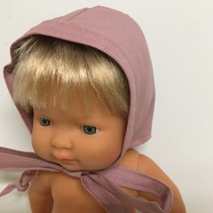 Miniland Dolls  Bonnet to fit 38cm Dolls