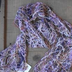 Lavendar - floating fibre  scarf