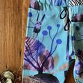leggings pants girl unisex boy gift / aqua purple / eco friendly organic cotton