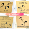 4 Pack: Bin Chicken (Ibis) Greeting Cards (Free Post to Aus)