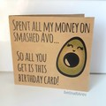 4 Pack: Quirky Pun Funny Greeting & Birthday Cards (Free Post to Aus)