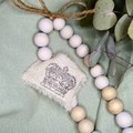 Shabby Chic Love Blessing Beads | Home Decor | Hand Made | Gift Idea | Cross
