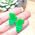 Cactus Plant Studs // Cute Earrings // Hypo-Allergenic // Free Post // Laser Cut