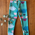 leggings - abstract green / eco friendly organic cotton / 1 - 12 years