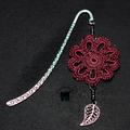 Crocheted Motif bookmark