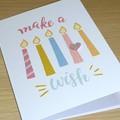Happy Birthday card - make a wish!