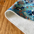 burp cloth - Australian magpies green / organic cotton hemp / eco friendly