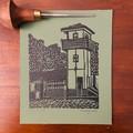 Lord Somers Camp -  Green Mini Slush Hut - Edition of 100 - Linoprint