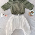 Baby Girl Boy Bunny Mouse Floral Two Piece Outfit Handmade top with harem pants