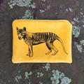 Screen printed Tasmanian tiger purse