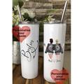 Personalised Skin Tumbler, Sisters by Soul, BFF, Bestie Gift, Birthday Gift