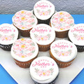Mothers Day Mum Edible Icing Cupcake Toppers - Pre-cut Sheet of 15 - EI172C