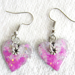 Resin  Drop Heart earrings