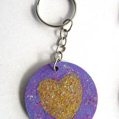 Wood Art Key Ring (set 3) & 1 FREE Mood Ring