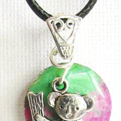 Resin Koala Pendant and Drop earring Set