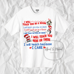 Zoom teaching uniform/ teacher shirt/ dr seuss