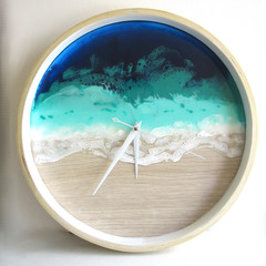 RESIN WALL CLOCK Beach Themed 2