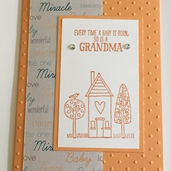 baby Card for Grandparent / Grandma - free postage