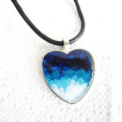 Resin Heart Pendant Ocean theme 5