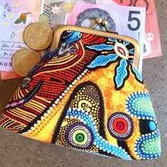 Orange lizard coin purse