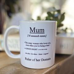 MUM. Definition  -11oz ceramic coffee mug,