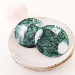 Free shipping! Eco resin earrings