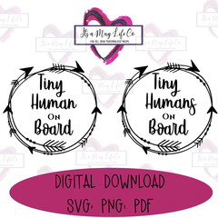 Instant Download - Tiny Human on Board, Car Decal Cut File, SVG, PNG, PDF