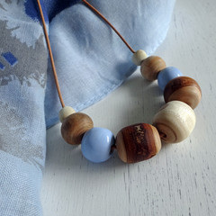 Necklace - On a Clear Day - N309W. Pottery and Wood.