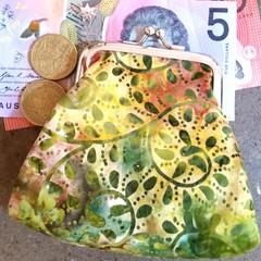 Green fern coin purse