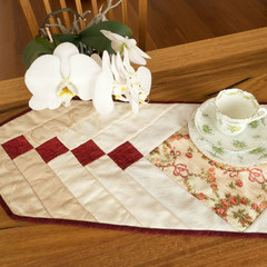 Mother's Day gift. Table runner, Victorian style French braid design, reversible