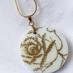 Golden Rose Pendant