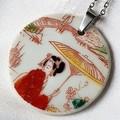Japanese Geisha Pendant