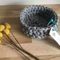 Crochet basket   essential oils   home decor   storage basket   BLACK & WHITE