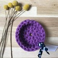Crochet basket | MULTIPLE SIZES | PURPLE