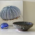 13cm Sprig Bowl - Metallic Merlot