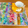 Set of 2 table mats,  bright, original design, reversible