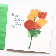Mother's Day card | Personalised Card | Flowers and Lemon | Junior Artist