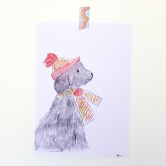 Carol the Dog A4 Print | Junior Artist Art | FREE POST | Signed.