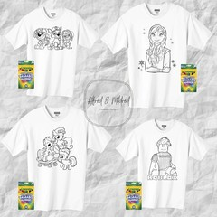 Colouring in t-shirt