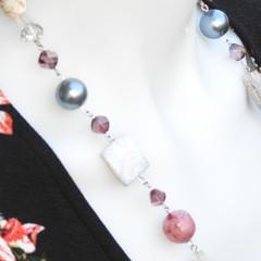 Enchanted Beaded Necklace Mocha