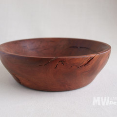 Red Gum Burl Hand Turned Wooden Trinket or Display Bowl