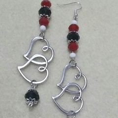 """Queen of Hearts"" Earrings."