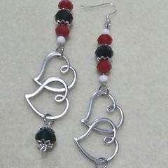 """Queen of Hearts"" Earrings."