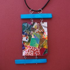 Buena - Collage pendant reversible