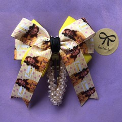 Stunning handmade large Emma wiggle inspired  barrette bow clip