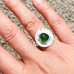 Sea Glass Circular feature Ring